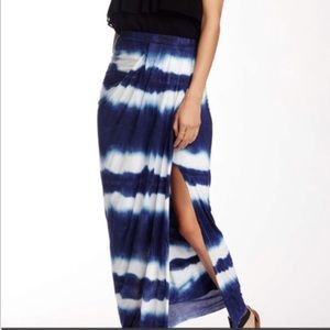 NWOT Young Fabulous and Broke tie dye maxi skirt